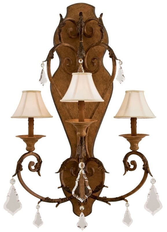 """Metropolitan N6222 3 Light 24"""" Width Candle-Style Wall Sconce from the"""