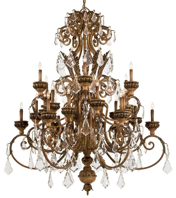 Metropolitan N6229 24 Light 2 Tier Candle Style Crystal Chandelier