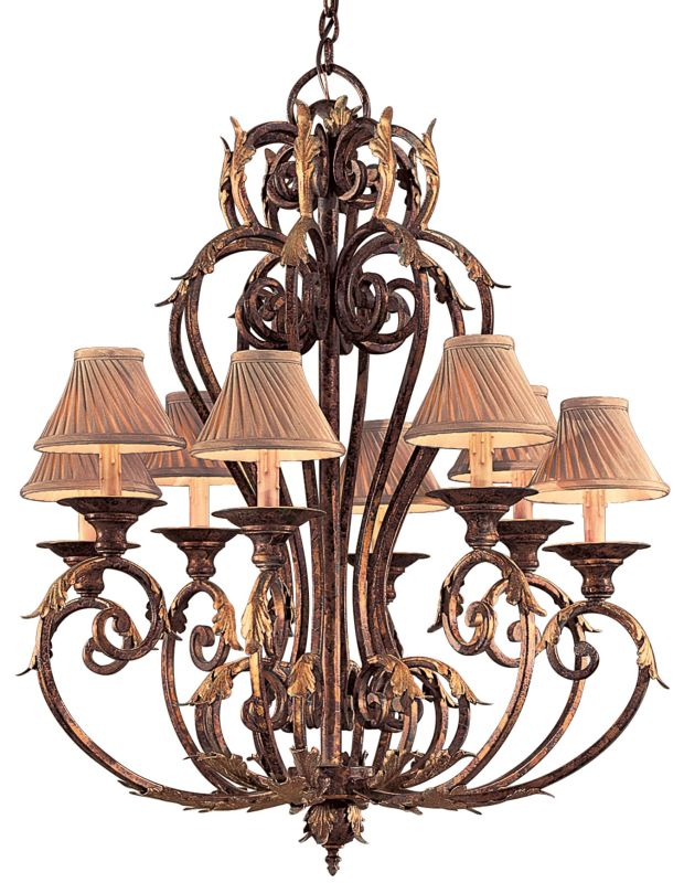 Metropolitan N6238 8 Light 1 Tier Candle Style Chandelier from the