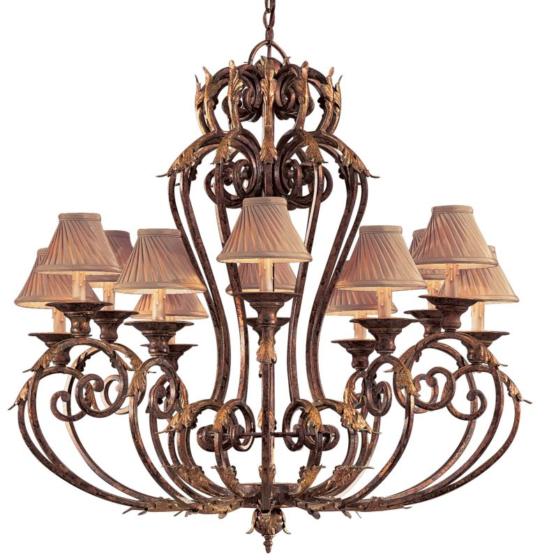Metropolitan N6239 12 Light 1 Tier Candle Style Chandelier from the