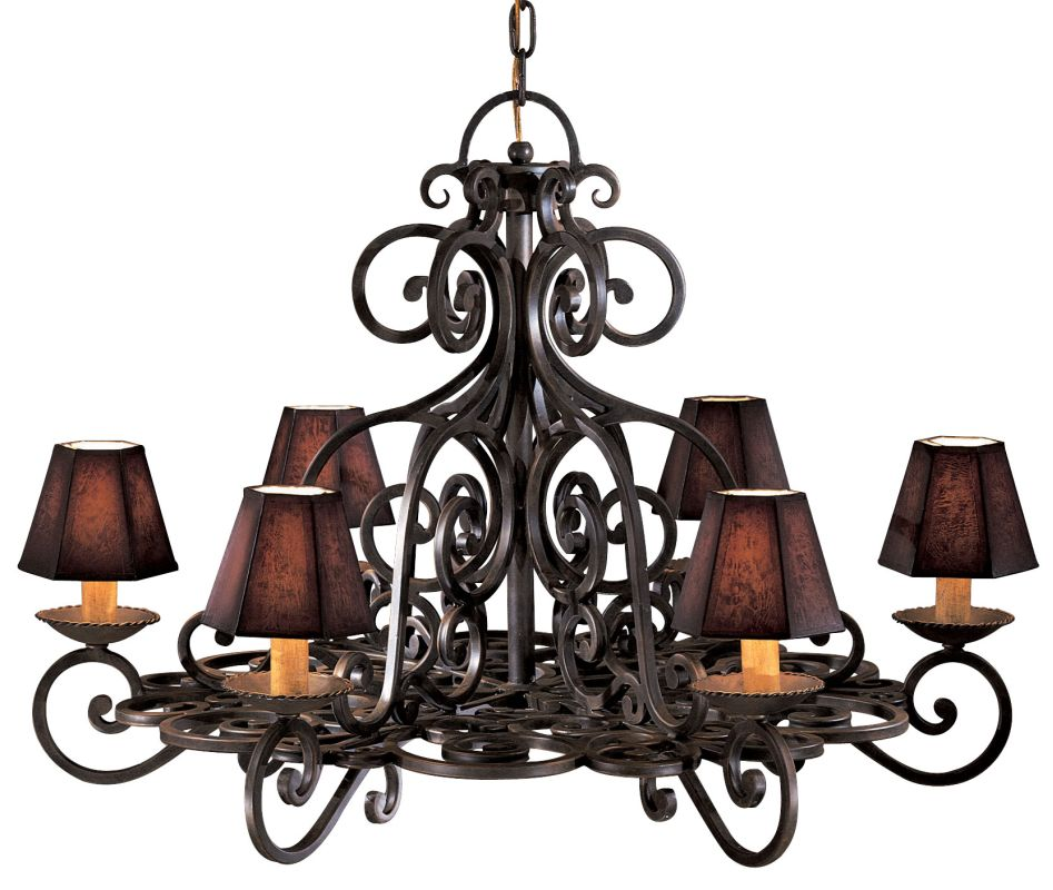 Metropolitan N6311 Six Light Chandelier from the Castile Collection