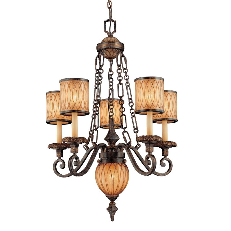 Metropolitan N6495-270 6 Light 1 Tier Candle Style Chandelier from the