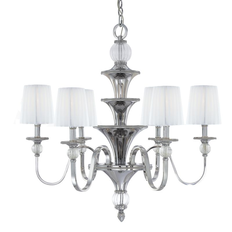 Metropolitan N6610 6 Light 1 Tier Candle Style Chandelier from the