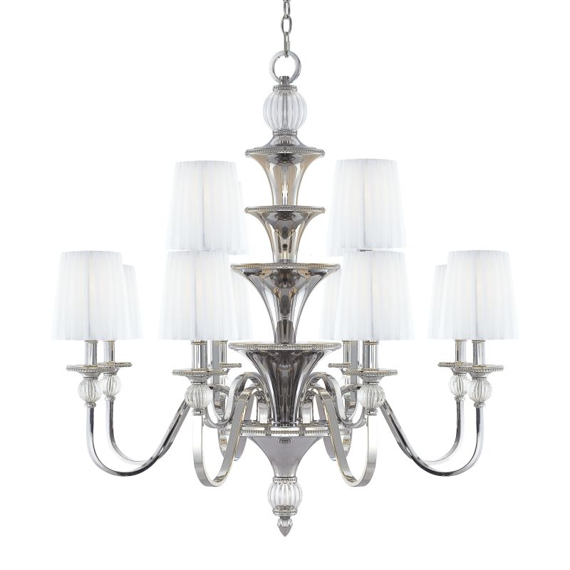 Metropolitan N6611 12 Light 2 Tier Candle Style Chandelier from the