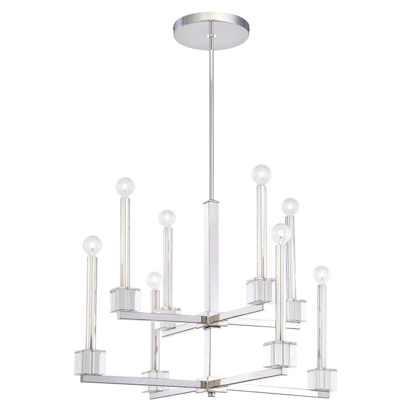 Metropolitan N6871 8 Light 2 Tier Candle Style Chandelier from the
