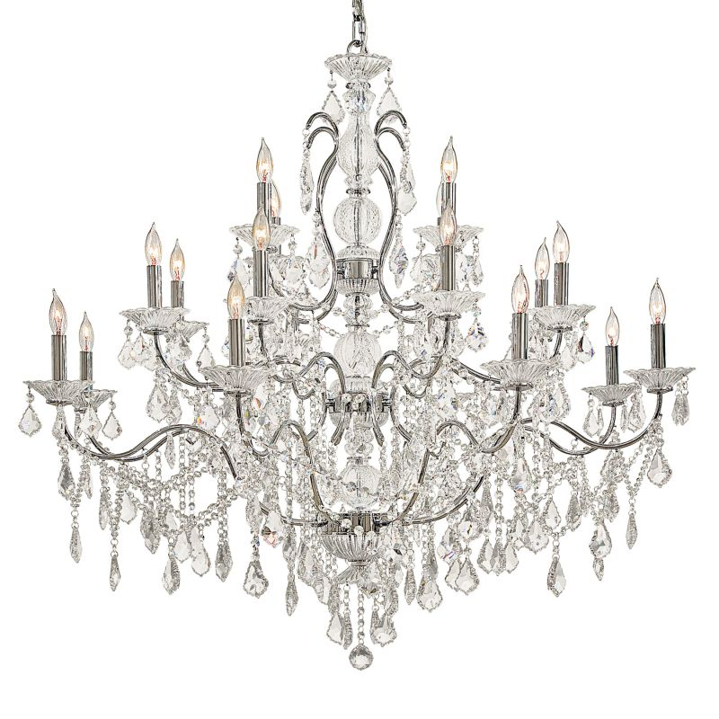 Metropolitan N8009 20 Light 3 Tier Candle Style Crystal Chandelier