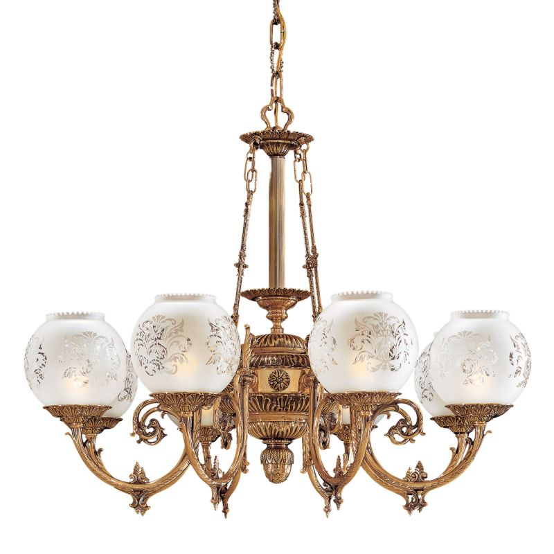 "Metropolitan N801908 8 Light 32.5"" Width 1 Tier Chandelier from the"