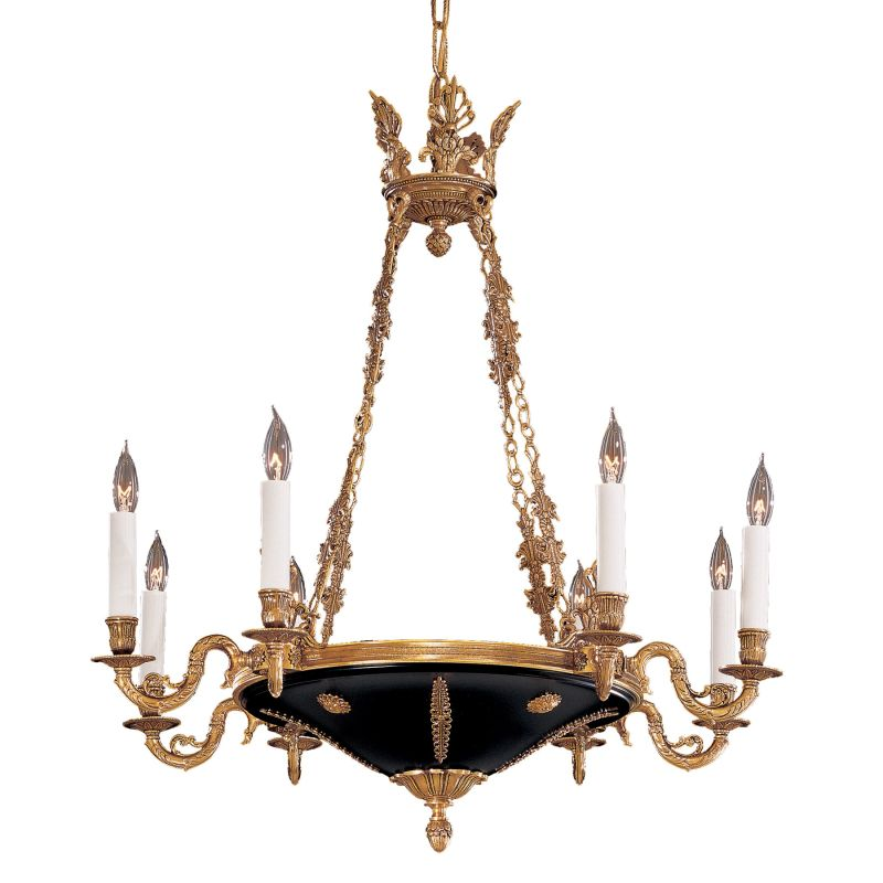 Metropolitan N850209 8 Light 1 Tier Candle Style Chandelier from the