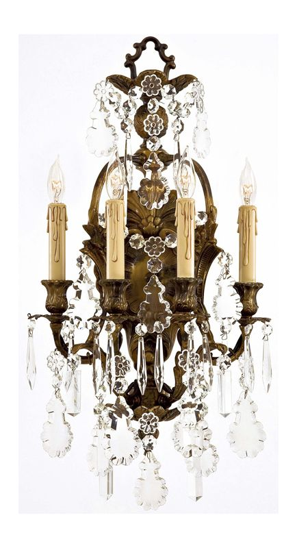 Metropolitan N950200 4 Light Candle-Style Wall Sconce from the Vintage