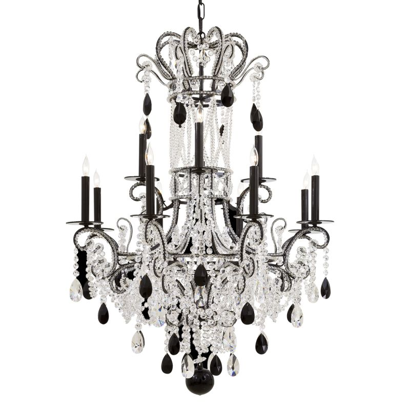Metropolitan N951862 Crystal Twelve Light Two Tier Chandelier with