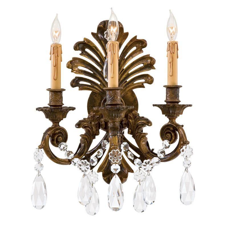 "Metropolitan N952013 3 Light 13.5"" Width Candle-Style Wall Sconce"