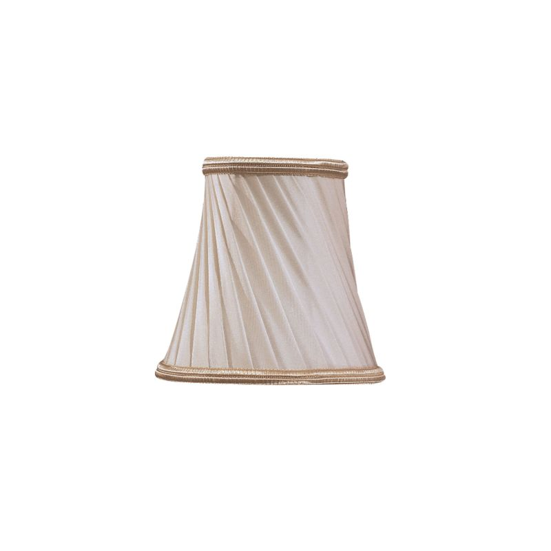 "Metropolitan SH1929 Eggshell Fabric Twist 5"" Diameter Candelabra Shade"