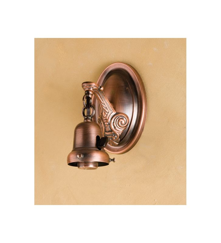 "Meyda Tiffany 101908 4"" Wide Single Light Wall Sconce Copper Indoor"