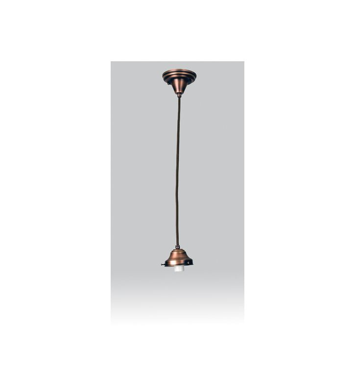 Meyda Tiffany 101911 Single Light Down Light Pendant Burnished Copper