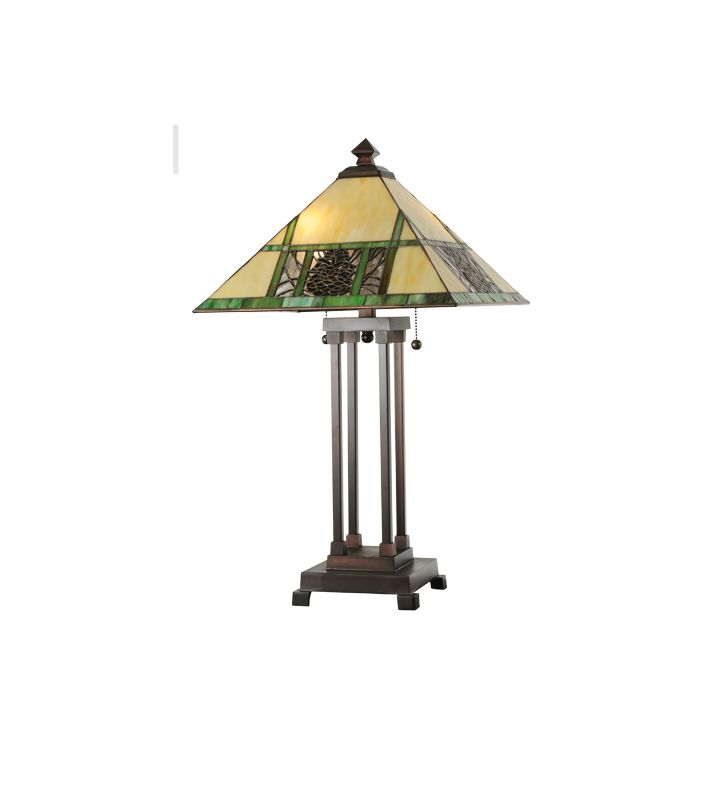Meyda Tiffany 103380 Two Light Up Lighting Table Lamp from the Sale $387.00 ITEM: bci877279 ID#:103380 :