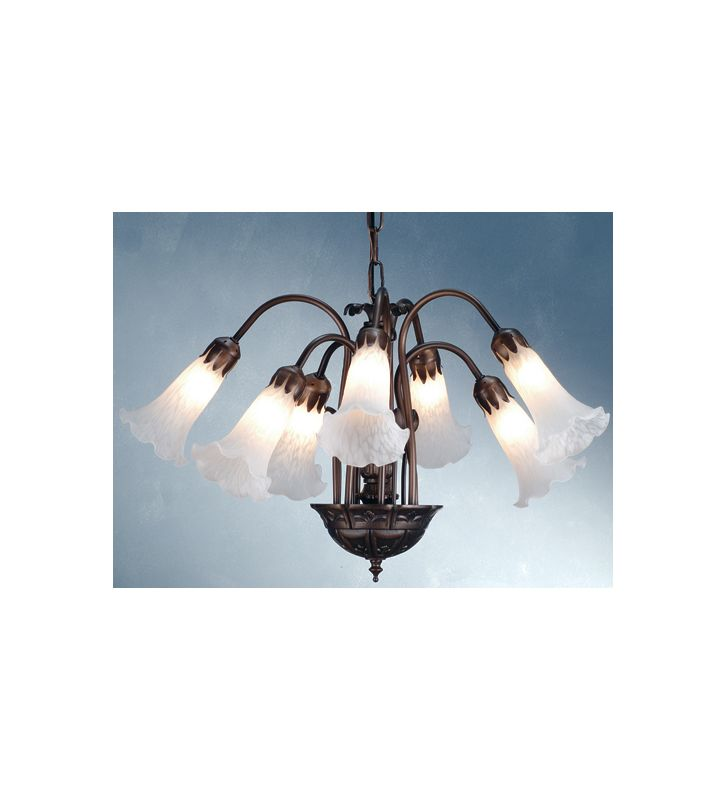 Meyda Tiffany 11621 Seven Light Down Lighting Chandelier Mahogany