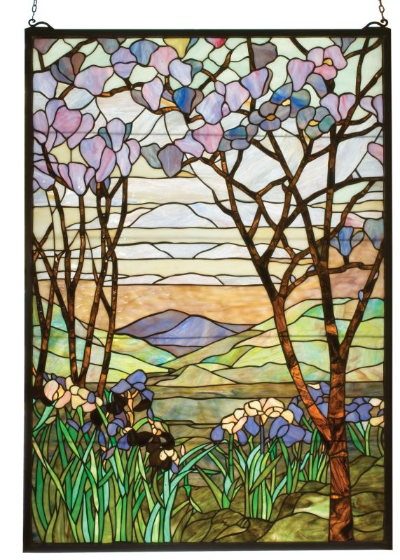 Meyda Tiffany 12514 Stained Glass Tiffany Window from the Magnolia