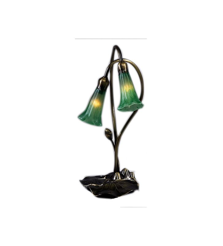 Meyda Tiffany 13481 Stained Glass / Tiffany Desk Lamp from the Lilies Sale $84.60 ITEM: bci246113 ID#:13481 UPC: 705696134816 :