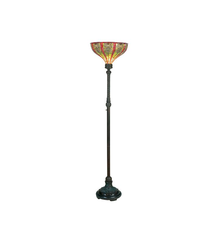 Meyda Tiffany 13942 Stained Glass / Tiffany Torchiere Lamp from the