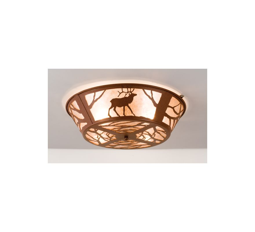 Meyda Tiffany 15311 Four Light Flush Mount Ceiling Fixture Rust Indoor