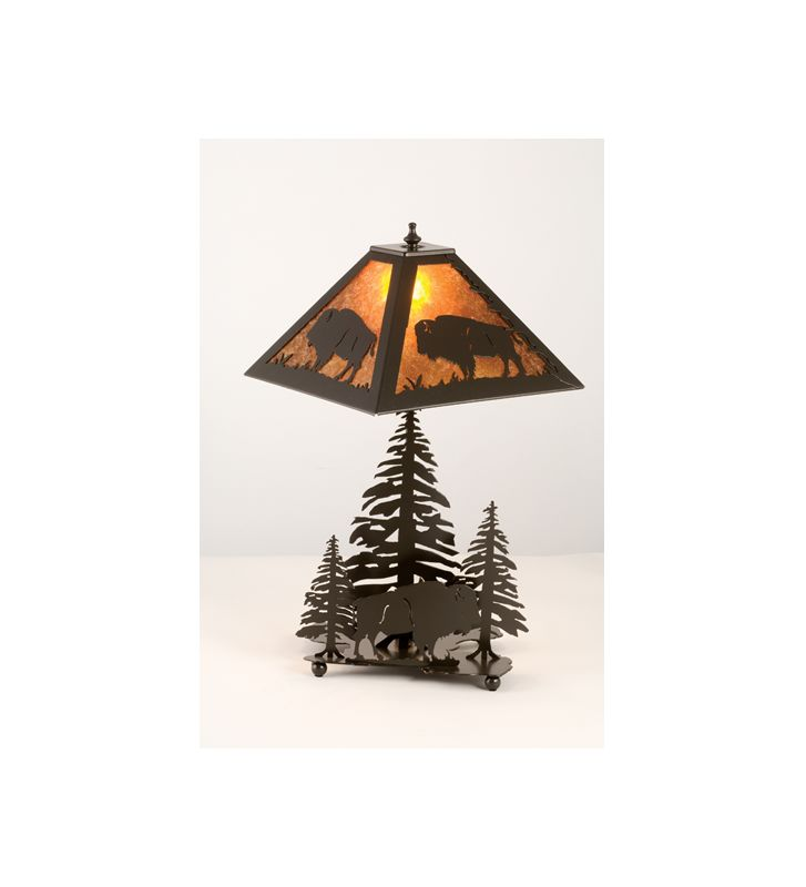 Meyda Tiffany 15380 Craftsman / Mission Two Light Table Lamp Timeless