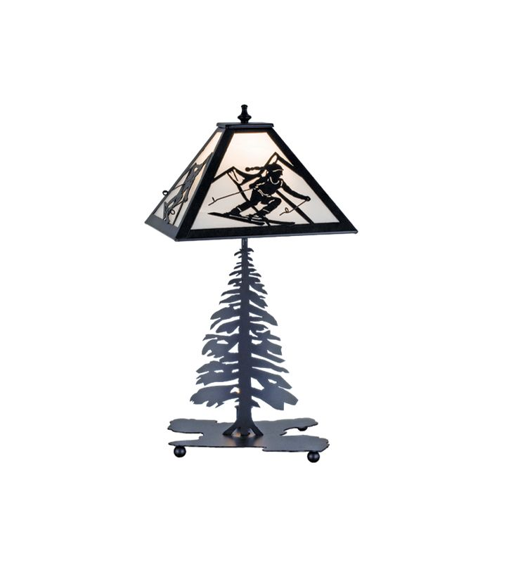 Meyda Tiffany 15425 Craftsman / Mission Two Light Table Lamp Rustic /