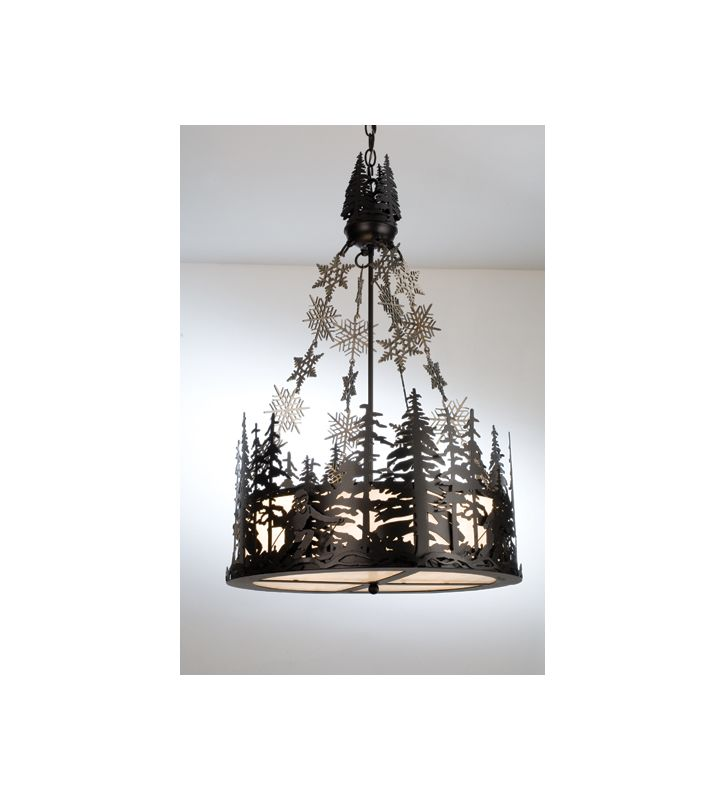 Meyda Tiffany 15434 Craftsman / Mission Four Light Up Lighting Pendant