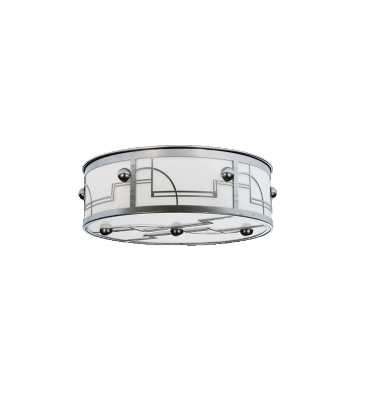 Meyda Tiffany 15514  Four Light Flush Mount Ceiling Fixture Nickel