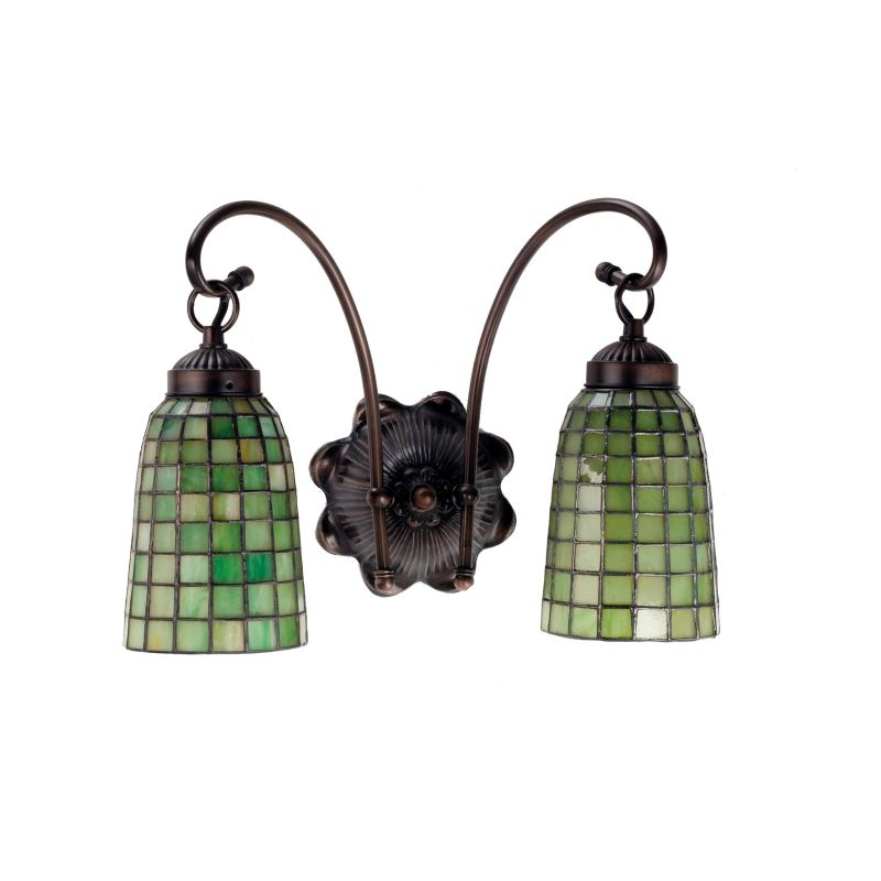 "Meyda Tiffany 18637 Stained Glass / Tiffany 2 Light 14.5"" Wide Sale $239.40 ITEM: bci233504 ID#:18637 UPC: 705696186372 :"