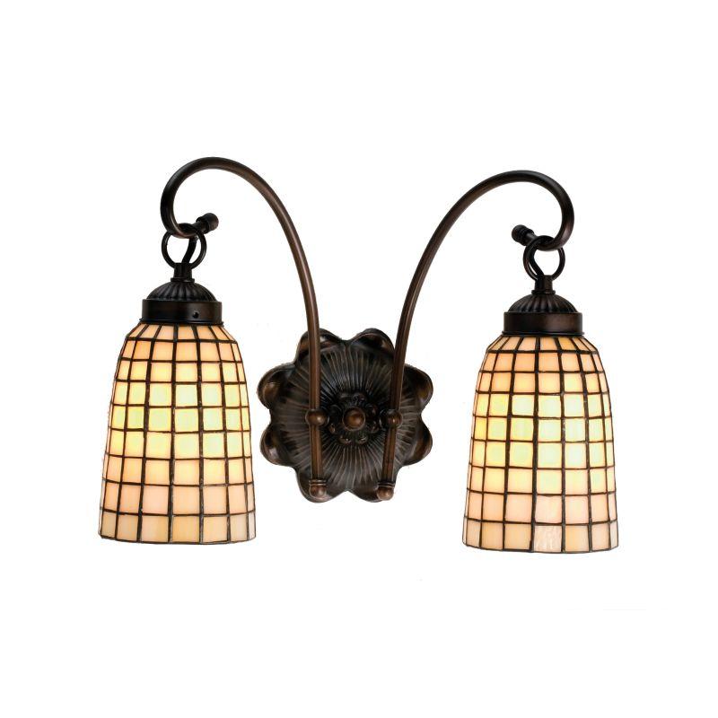 """Meyda Tiffany 18646 Stained Glass / Tiffany 2 Light 14.5"""" Wide Sale $239.40 ITEM: bci233509 ID#:18646 UPC: 705696186464 :"""