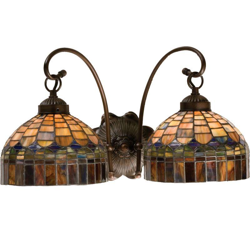 Tiffany Bathroom Lighting: Meyda Tiffany 18690 Mahogany Bronze Stained Glass