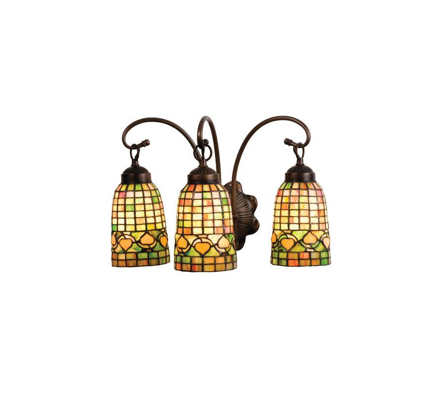 "Meyda Tiffany 18866 Stained Glass / Tiffany 3 Light 18"" Wide Bathroom Sale $367.20 ITEM: bci249222 ID#:18866 UPC: 705696188666 :"