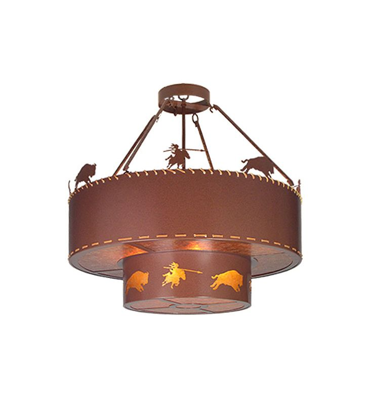 Meyda Tiffany 19011 Eight Light Up Lighting Pendant Rust Indoor