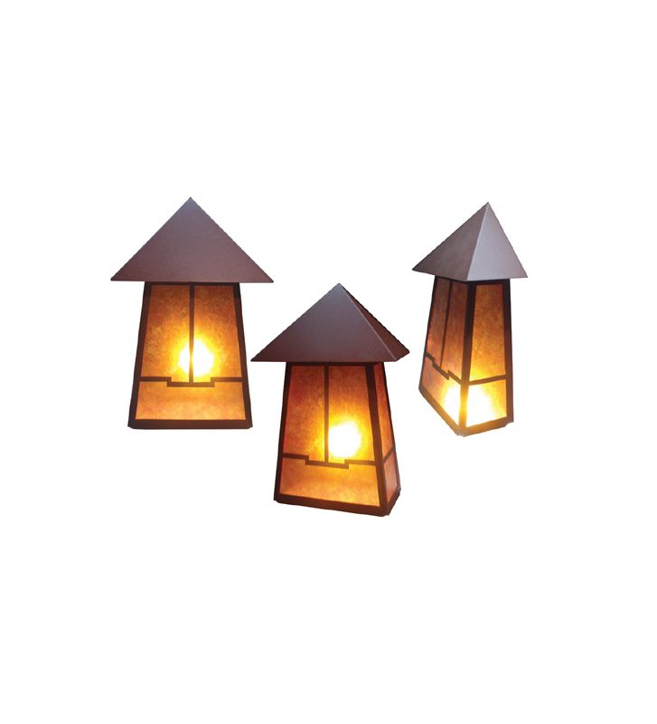 "Meyda Tiffany 19115 12"" Wide 2 Light Lantern Wall Sconce Rust Indoor"