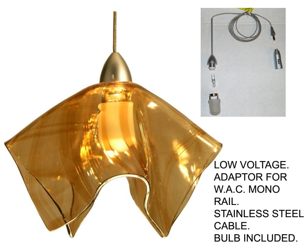 Meyda Tiffany 19729 Stainless Steel Contemporary Handkerchief Pendant