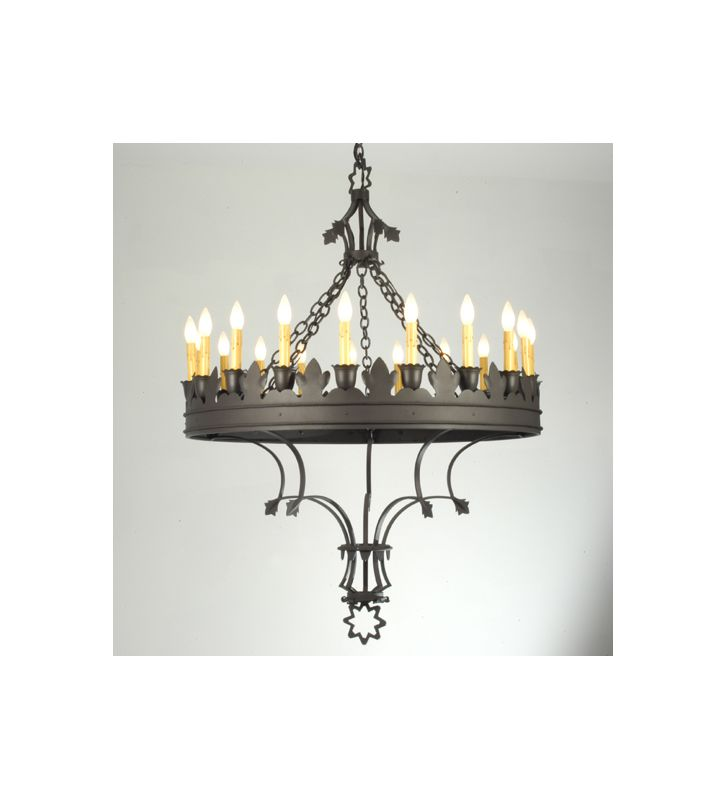 Meyda Tiffany 19847 Nineteen Light Up Lighting Chandelier Wrought Iron
