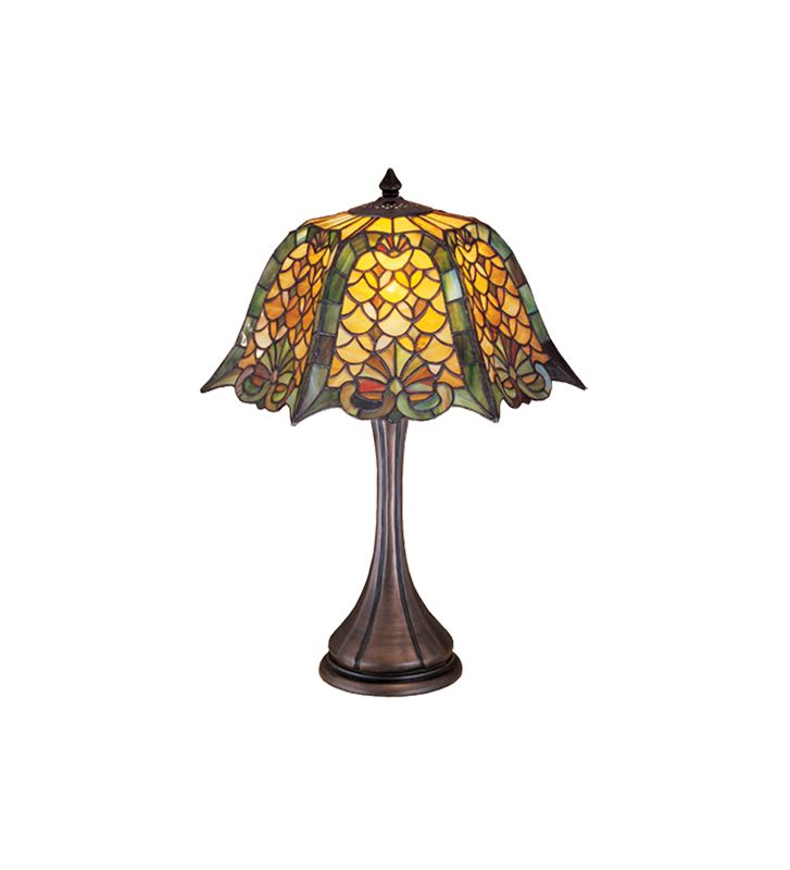 Meyda Tiffany 19876 Tiffany Single Light Up Lighting Table Lamp from