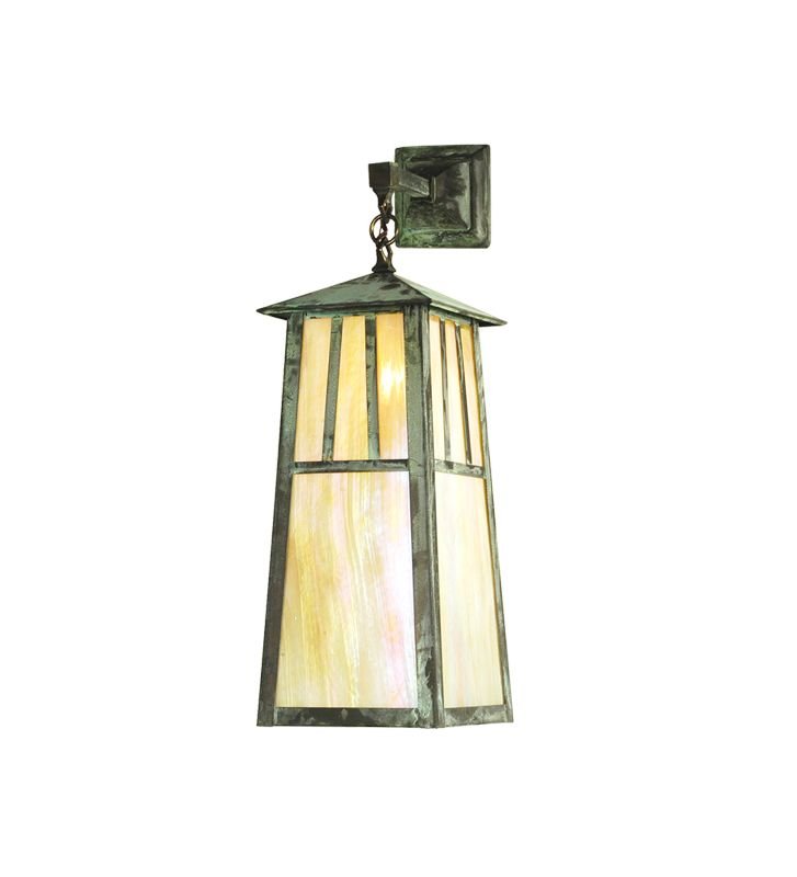 "Meyda Tiffany 20112 8"" Wide Single Light Lantern Wall Sconce Verdi"