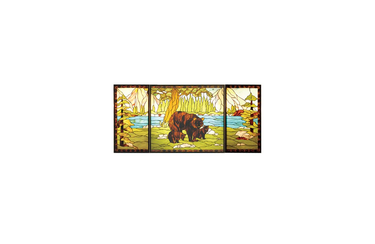 Meyda Tiffany 20121 Tiffany Rectangular Stained Glass Window Pane from