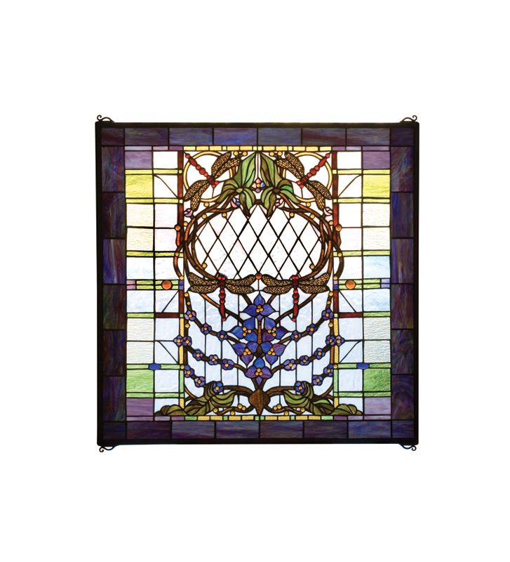 Meyda Tiffany 20579 Tiffany Square Stained Glass Window Pane from the