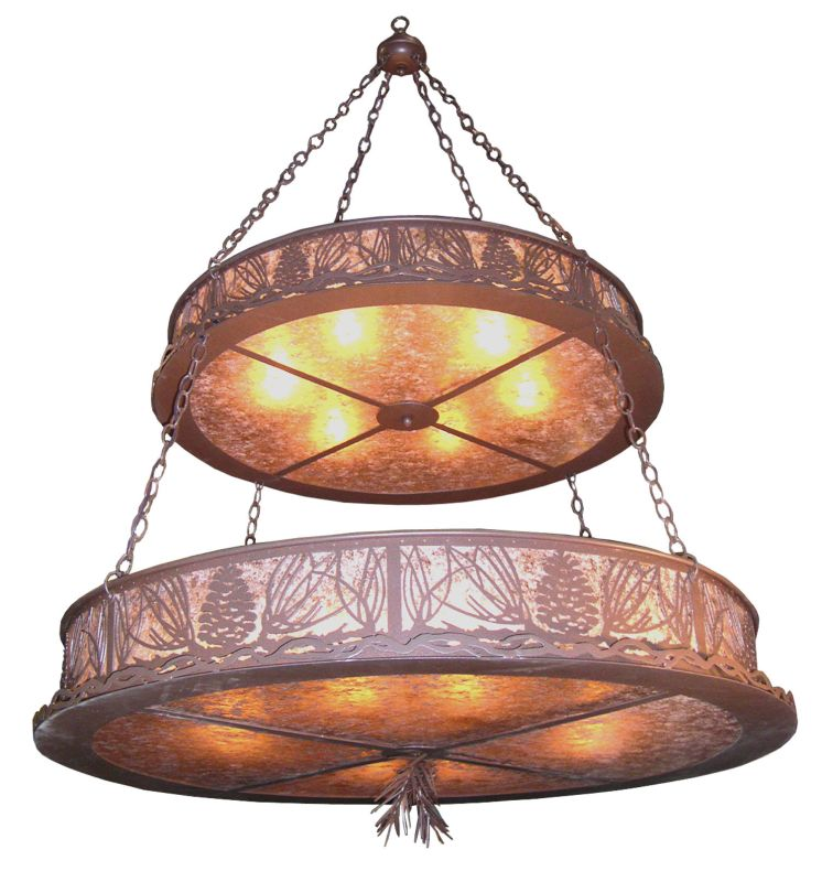 Meyda Tiffany 20593 Fourteen Light Up Lighting Chandelier Caf�© Noir