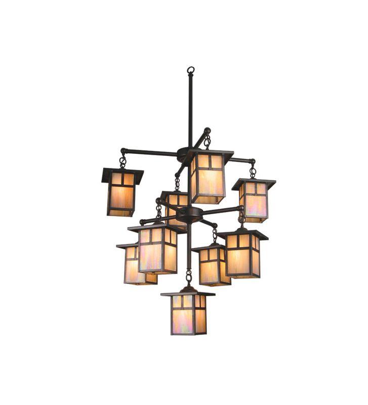 Meyda Tiffany 20814 Craftsman / Mission Nine Light Down Lighting