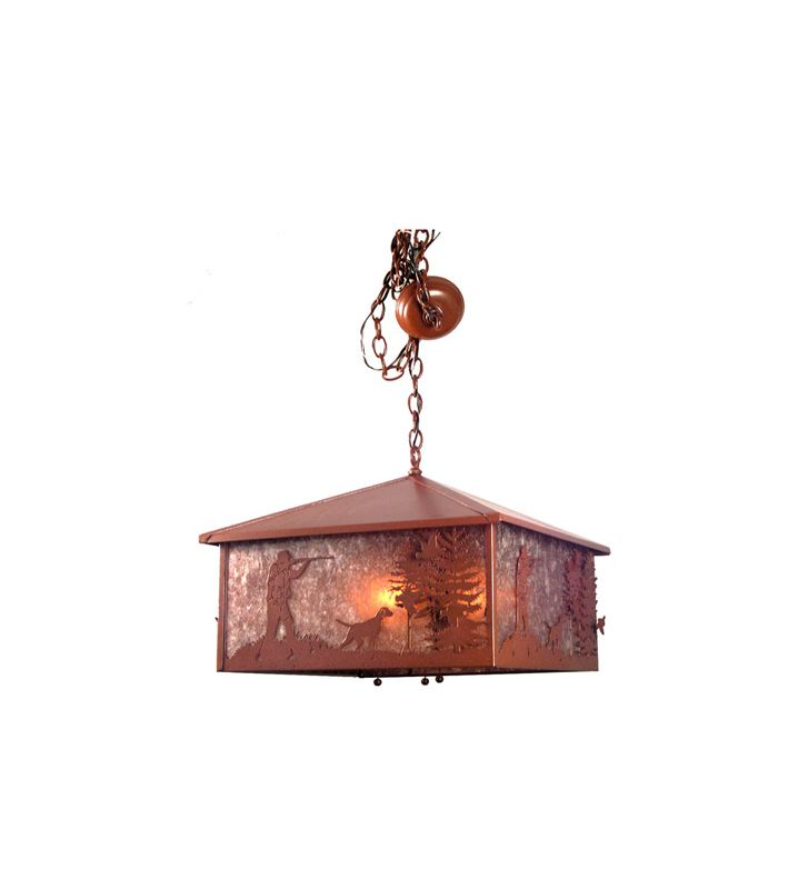 Meyda Tiffany 20934 Three Light Down Lighting Pendant Rust Indoor