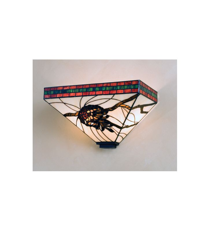 "Meyda Tiffany 21035 14"" Wide 2 Light Wall Sconce with Stained Glass"