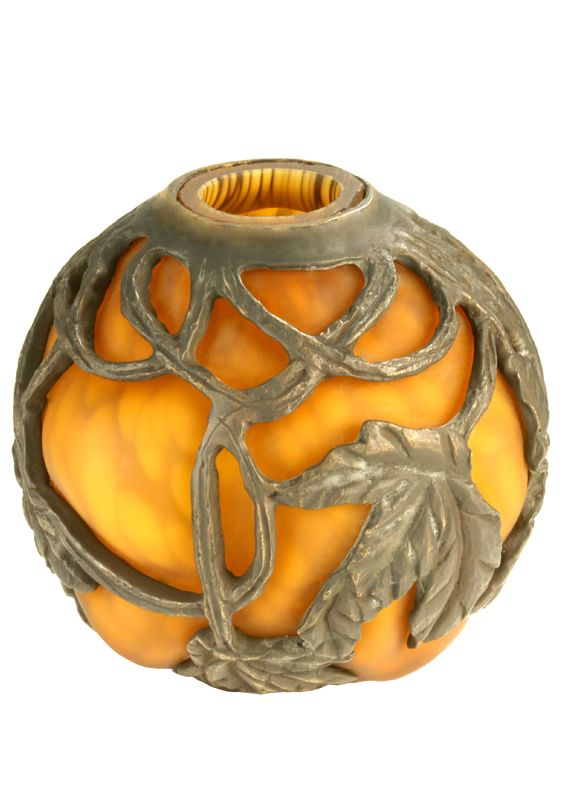 Meyda Tiffany 21237 Amber Glass Orb Shade from the Rose Collection