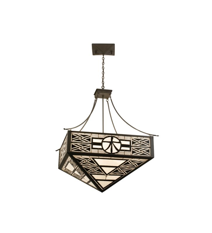 Meyda Tiffany 21511 Craftsman / Mission Four Light Pendant Sepia Vein