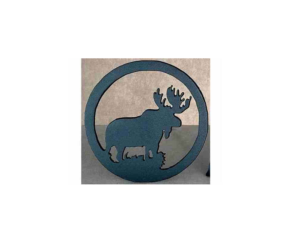 Meyda Tiffany 22408 Single Trivet from the Moose Collection Black Home