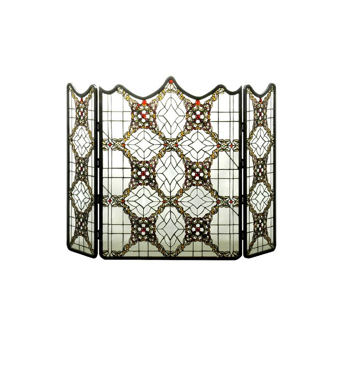 """Meyda Tiffany 51"""" x 36"""" Fireplace Screen Victorian Folding 22956"" Sale $7104.60 ITEM: bci876489 ID#:22956 UPC: 705696229567 :"