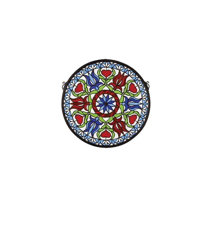 Meyda Tiffany 23284 Tiffany Round Stained Glass Medallion Window from