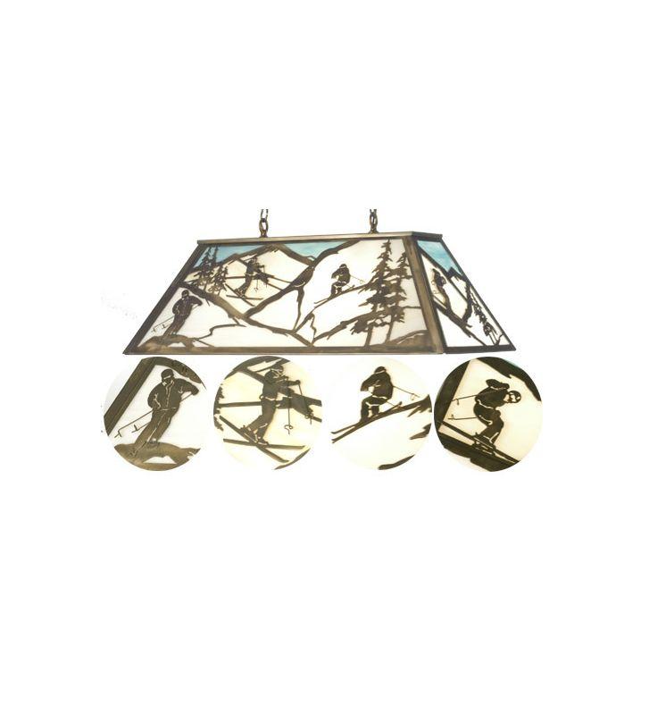Meyda Tiffany 23746 Stained Glass / Tiffany Nine Light Island /